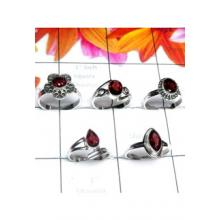 RBS991-Multi Cut Gemstone 5 Pcs Baby Ring Wholesale Lot With 925 Sterling Silver