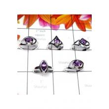 RBS999-5pcs Baby Ring Made In 925 Sterling Silver With Cut Gemstone Wholesale Lot