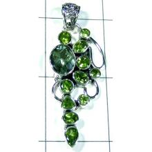 Sparkling Green Amethyst with Peridot Designer Pendant-S10P289