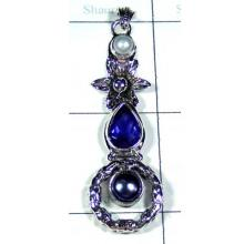 Iolite with Pearl Gemstone Pendant-S10P368