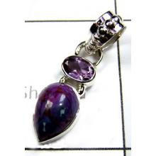 Exclusive Design Purple Turquoise Pendant-S12P044