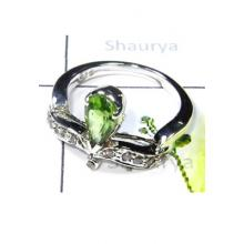 925 Sterling Silver Peridot Ring-S12R013