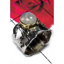 Exclusive Two tone silver with Brass Ring-SAR494