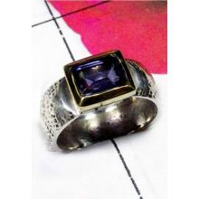 Two Tone silver Brass Ring-SAR770