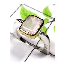 925 Sterling silver with Brass 2 Tone cut Ring-SAR839