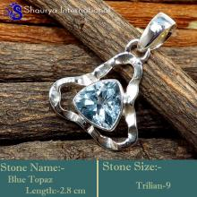 IPC994-Gorgeous Blue Topaz Gemstone Fashionable Designer Pendants 925 Sterling Silver