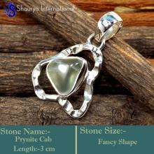 IPC977-Gorgeous Prynite Gemstone 925 Sterling Silver Light Weight Pendants