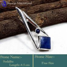 IPC968-Blue Colour Lapis Lazuli 925 Sterling Silver Party Wear Pendants