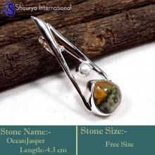 IPC964-Fabulous Ocean Jasper Gemstone New Style Wholesale Pendants 925 Sterling Silver