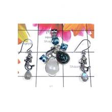 Semiprecious gems silver Set-SEASET011