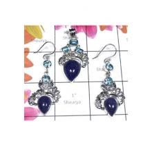 Designer silver gems Tanzanite Set-SEASET015