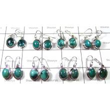 Cab Turquoise Earring Lot-SS6CE008