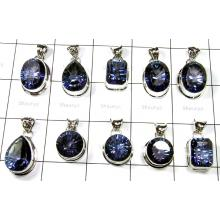 Big Cut Blue Mystic Stone Pendants Lot-SS6FP010