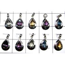 Lettest Cut Mm Multi Stones pendants Lot-SS6YPC003
