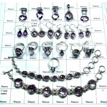 Faceted Chekar Cut Amethyst Combo Lots-SS6YST003