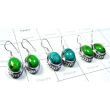 Green Turquoise Rings-SS6CE006