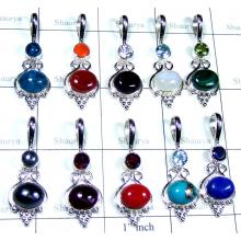 10 Pcs Light weight silver Pendants - SYP029