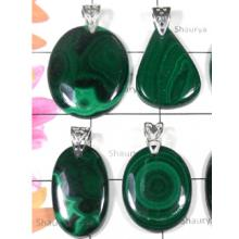 W2DP949-250 gm-Malachite Gemstone Gorgeous Pendants