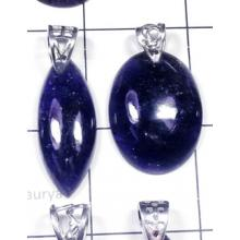 W2DP951-250 gm-925 Silver with Iolite Gemstone Drilled Pendants