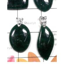 W2DP952-250 gm- Wholesale Silver Green Aventurine Gemstone Pendants