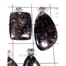 W2DP958-250 gm-Exclusive 925 Silver Astrophylite Pendants