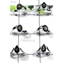 W2FR991-100 Pcs-Smoky Stone Trendy Rings