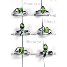 W2FR992-100 Pcs-Beautiful Peridot Stone Rings