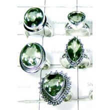 W2GA998-250 gm-Natural Cut Green Amethyst Designer Rigns