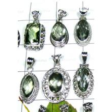W2GA999-250 gm-Beautiful Designer Pendants With Green Amethyst