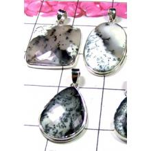 W2GD999-250 gm-925 Sterling silver Pendants with Dendritic Gemstone