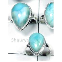 W2GL994-250 gm-Larimar Gemstone  Exclusive silver Rings