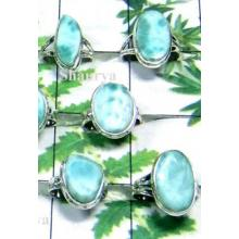 W2GL998-250 gm-Stylish Cab Stone Larimar Rings