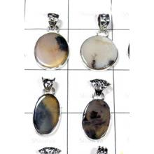 W2GRD999-250 gm- Exclusive silver Scenic Agate Gemstone Pendants