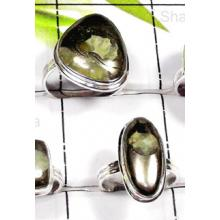 W2GSP998-250 gm-Exclusive silver Septerian Pyrite Rings