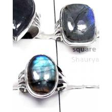 W2LBD996-250 gm-Wholesale 925 Silver Labradorite Rigns