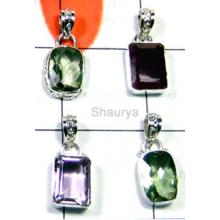 W2LCP963-10 Pcs-Multi Cut Gemstone Lovely Pendants
