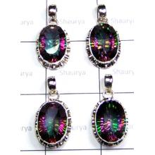W2MQ999-250 gm-Natural Mystic Quartz Designer Pendants