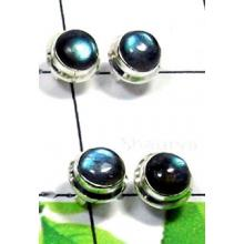 W2PS992-100 Pair-Original Labradorite Cab Stone Stud Earrings