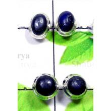 W2PS997-100 Pair-Sterling Silver Stud Earrings With Lapis
