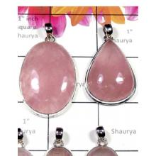 W2RQT998-250 gm-Rose Quartz Gemstone Fabulous Pendants