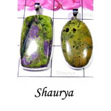 W2S998-250 gm-Wholesale Silver Mohave Stichtite Gemstone Pendants