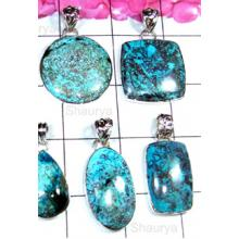 W2S999-250 gm-Shattuckite Gemstone Exclusive 925 Silver Pendants