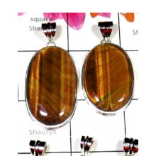 W2TE997-250 gm-Tiger Eye Gemstone silver Pendants