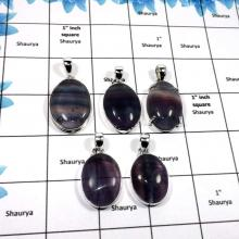 WBG855-6 Pcs Natural Fluorite Gemstone Handmade Wholesale Chunky Pendants 925 Sterling Silver