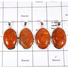 WBG950-10 Pcs 100 Grams Songe Coral Gemstone Pendants 925 Sterling Silver