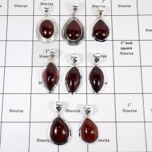 WBG956-12 To 15 Pcs 100 Grams Lot Hassonite Garnet Gemstone Pendants 925 Sterling Silver