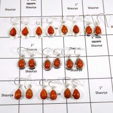 WBG990-25 To 30 Pairs Earrings 100 Grams Wholesale Lot Sponge Coral Gemstone 925 Sterling Silver