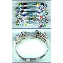 Handmade Silver Gems Bangle-jsbn015