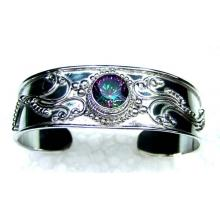Oxodized Silver Bangle-jsbn029