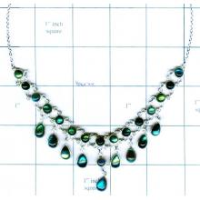 Silver Bezel Necklace-jsk2n022
